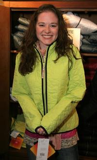 Sarah Drew at the Descente Display.