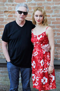 Director David Cronenberg and Sarah Gadon at the portrait session of