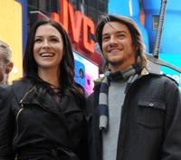 Bridget Regan and Craig Horner at the promotion of
