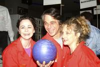 Geraldine Hughes, Tony Danza and Carol Kane at the 18th Annual Second Stage All-Star Bowling Classic.