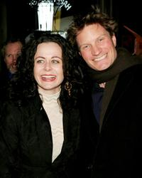 Geraldine Hughes and her husband Ian Harrington at the after party of the opening night of