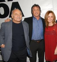 Burt Young, Sylvester Stallone and Geraldine Hughes at the Philadelphia premiere of