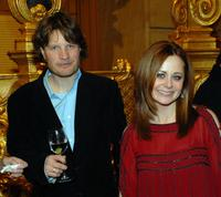 Ian Harrington and Geraldine Hughes at the after party of the Philadelphia premiere of