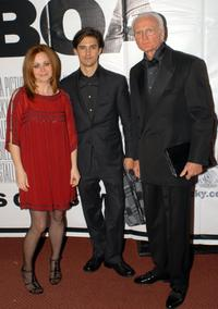 Geraldine Hughes, Milo Ventimiglia and Guest at the Philadelphia premiere of