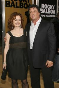 Geraldine Hughes and Sylvester Stallone at the World premiere of