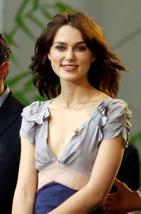 Keira Knightley at The Tonight Show with Jay Leno.