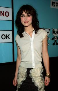 Keira Knightley at the MTV TRL Times Square Film Festival Week.