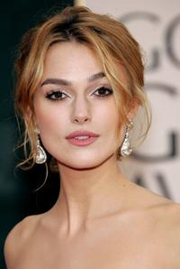 Keira Knightley at the 63rd Annual Golden Globe Awards.