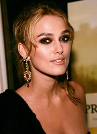 Keira Knightley at the New York after party premiere of