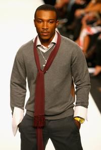 Ashley Walters at the Fashion Relief show during the London Fashion Week 2007.