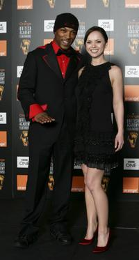 Ashley Walters and Christina Ricci at the Orange British Academy Film Awards (BAFTAs).