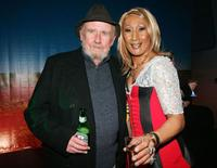 Bill Hunter and Kornisha at the after party of the opening night of