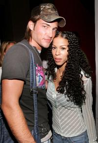 Brandon Trentham and Heather Hunter at the after party of the premiere of