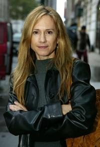 Holly Hunter at the Olympus Fashion Week Spring 2005 at Bryant Park.