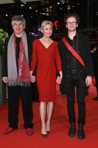 Director Richard Loncraine, Renee Zellweger and Mark Rendall at the premiere of