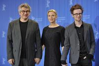 Director Richard Loncraine, Renee Zellweger and Mark Rendall at the photocall of