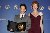 Jason Winer and Christina Hendricks at the 62nd Annual Directors Guild of America Awards.