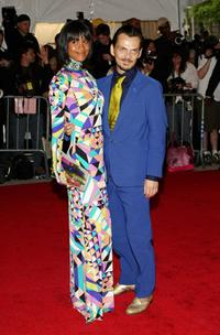 Joy Bryant and Matthew Williamson at the Metropolitan Museum of Art Costume Institute Gala.