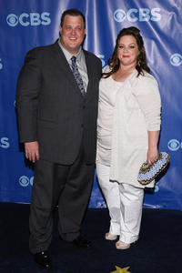 Billy Gardell and Melissa McCarthy at the 2011 CBS Upfront in New York.