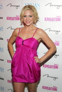 Brittany Snow at a party for