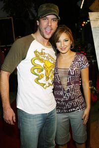 Dane Cook and Vanessa Lengies at the premiere of