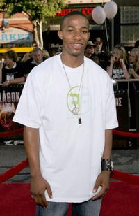 Arlen Escarpeta at the Los Angeles Fan screening of