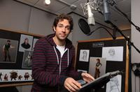 Zachary Levi on the set of