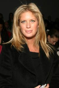 Rachel Hunter at the Richard Tyler Fall 2005 show during the Olympus Fashion Week.