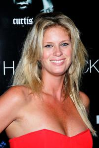 Rachel Hunter at the 50 Cent's performance at The Pontiac Garage Stage poolside.
