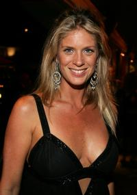 Rachel Hunter at the after party at the 2005 World Music Awards.