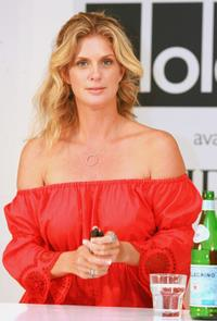 Rachel Hunter at the David Jones Bondi Junction store to launch her new swimwear range