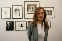 Isabelle Huppert at the opening of the 'Isabelle Huppert, la femme aux portraits' exhibition at the Botanical gardens.
