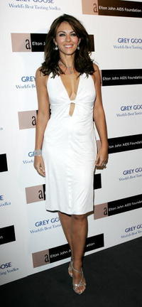 Elizabeth Hurley at the Grey Goose Vodka And The Elton John AIDS Foundation Launch Party.