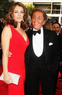 Elizabeth Hurley and Valentino Garavani at the