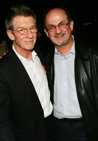 John Hurt and Salman Rushdie at the New York premiere of