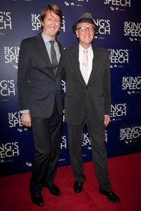 Tom Hooper and Geoffrey Rush at the Australian premiere of