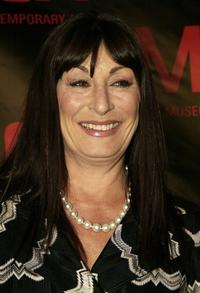 Anjelica Huston at the opening gala for MOCA's Robert Rauschenberg Exhibition at Moca.