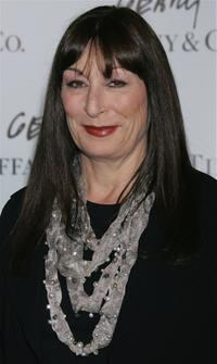 Anjelica Huston at the launch of Frank Gehry's premiere jewelry collection for Tiffany & Co.