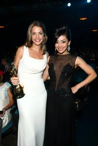 Julie Gonzalo and Aimee Garcia at the 2008 ALMA Awards.