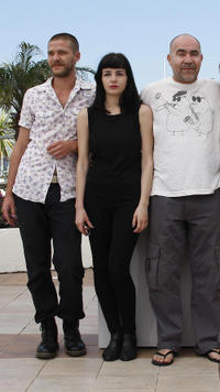 Christos Passalis, Mary Tsoni and Christos Stergioglou at the photocall of