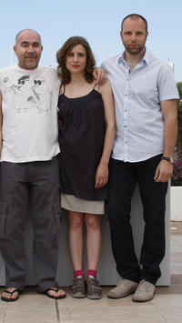Christos Stergioglou, Aggeliki and director Yorgos Lanthimos at the photocall of