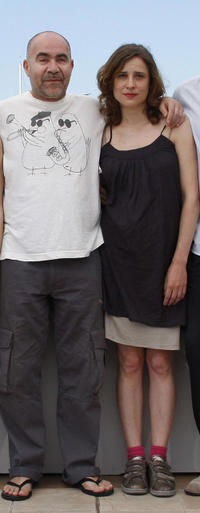 Christos Stergioglou and Aggeliki at the photocall of