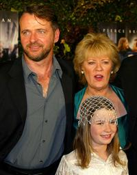 Aidan Quinn, Evelyn Doyle and Sophie Vavasseur at the premiere of