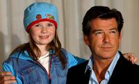 Sophie Vavasseur and Pierce Brosnan at the photocall of