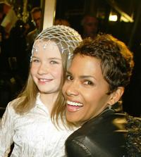 Sophie Vavasseur and Halle Berry at the premiere of
