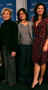 Olympia Dukakis, Kristen Thomson and Wendy Crewson at the press conference of