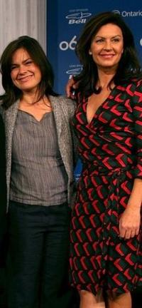 Kristen Thomson and Wendy Crewson at the press conference of