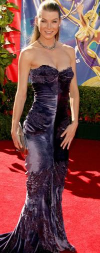 Ellen Pompeo at the 58th Annual Primetime Emmy Awards.