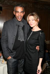 Chris Ivery and Ellen Pompeo at the Rag & Bone Fall 2008 fashion show during the Mercedes-Benz Fashion Week Fall 2008.