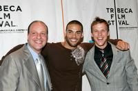 Morris S. Levy, Marcus Patrick and Chad Faust at the premiere of